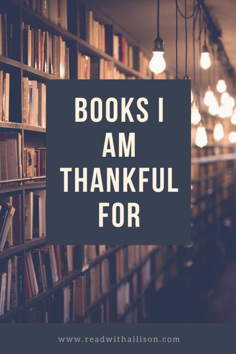 books I am thankful for